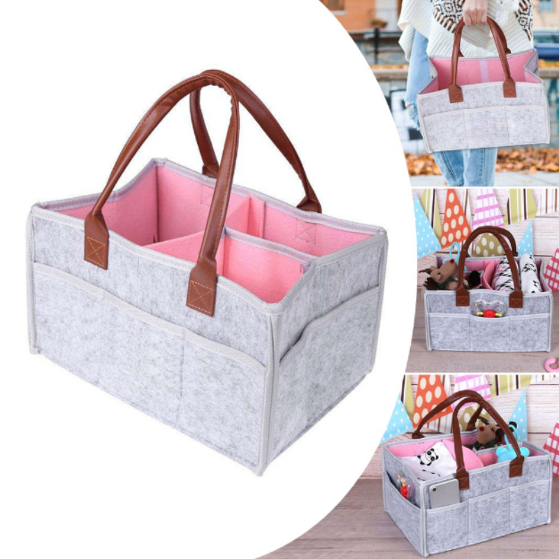 NEW Baby Diaper clothes Nursery Felt Storage Bag Infant Wipes Bag Nappy Organizer Sundries small item Basket
