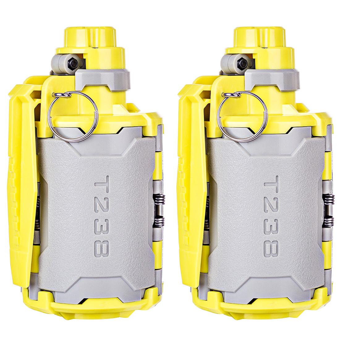 2 Pcs/Lot T238 V2 Large Capacity Water Bomb With Time-Delayed Function For Gel Ball BBs Airsoft Wargame -Grey + Yellow