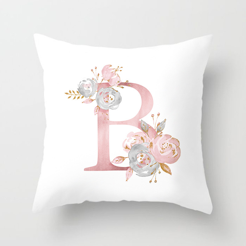 Image 4 - Rose Gold Pink English Letter Cushion Cover Valentine's Day Gifts Kissen Decorative Throw Pillowcase for Couch Car Sofa Home-in Cushion Cover from Home & Garden