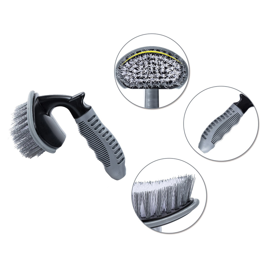 Image 5 - 2 Pcs Steel and Alloy Wheel Cleaning Brush Rim Cleaner For Car Motorcycle Bicycle Tire Wheels Soft wool Steel Brush Washing Tool-in Sponges, Cloths & Brushes from Automobiles & Motorcycles