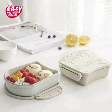 Cute Cartoon Owl Lunch Box For Kids Leakproof Food Container Storage Microwave Portable Wheat Straw Bento
