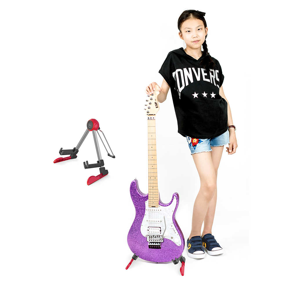 طوي حامل جيتار A-إطار قابل للتعديل سلسلة أداة قوس حامل ل الصوتية القيثارات الكهربائية باس