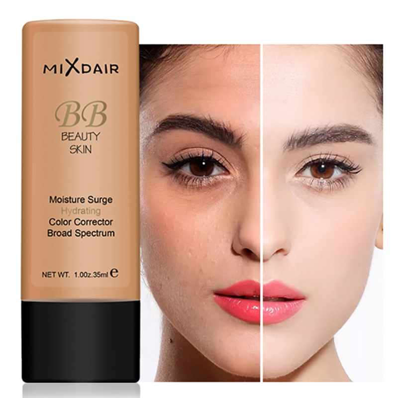 MIXDAIR Face Liquid Foundation Moisturizing Make Up Base BB Cream Brightening Concealer Face Primer Full Coverage Waterproof image