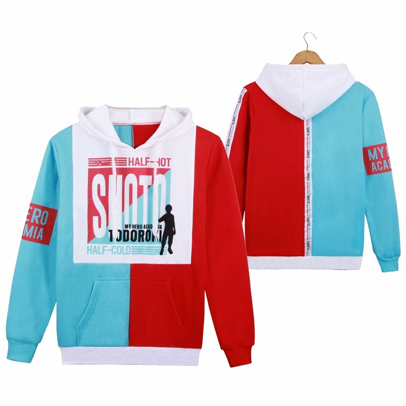 Anime Boku No My Hero Academia Hoodie Todoroki Shoto Cosplay Coat My Hero Academia Men Women Casual Sweatshirt Jacket
