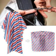 New Hairdressing Cape Striped Haircut Shawl Non Stick Breathable Apron Smooth Friendly Hair Salon Barber Shop Cape For Adults