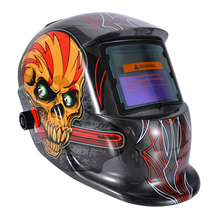 Welding Helmet 320x210x230mm Welding Helmet Solar Auto Darkening Welder Mask Grinding Hood Cap & 2 Baffle недорого