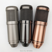 Gold Gray Brown Metal DIY Microphone Body Caseing Mic Case