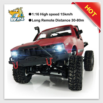 2018 new WPL C14 1:16 2ch 4wd Children RC Truck 2.4G Off-Road Truck Electric 15km/H Top Speed RTR/KIT Mini Racing Trucks Toy wpl c14