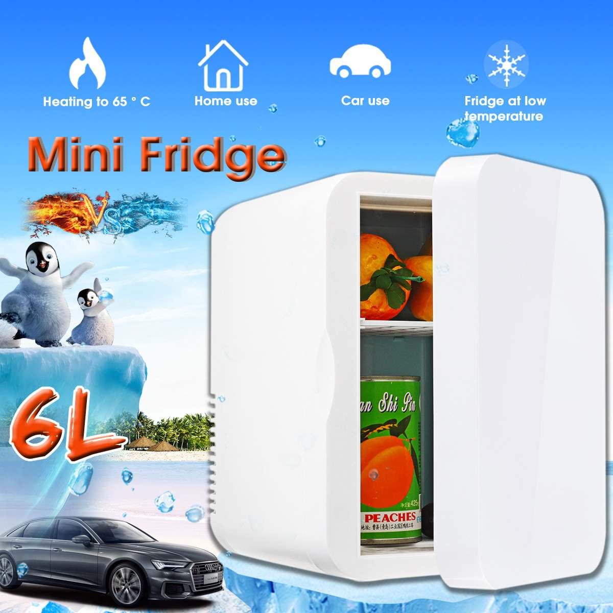6L Refrigerator Small Household Single Door Home Refrigerator Dual Use  24V 12V