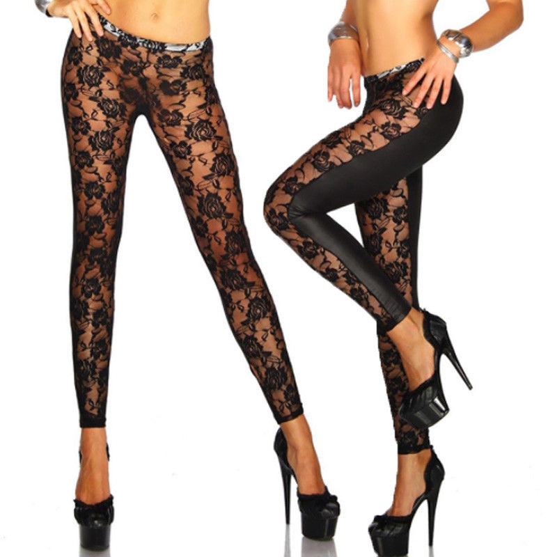 Thefound 2019 Fashion Women Sexy Lace Up Bandage High Waisted Skinny   Legging   Pants Trousers