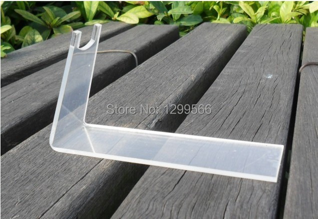 Promotion 2PCS/item Clear acrylic pistols holder gun display stand stand desktop rack
