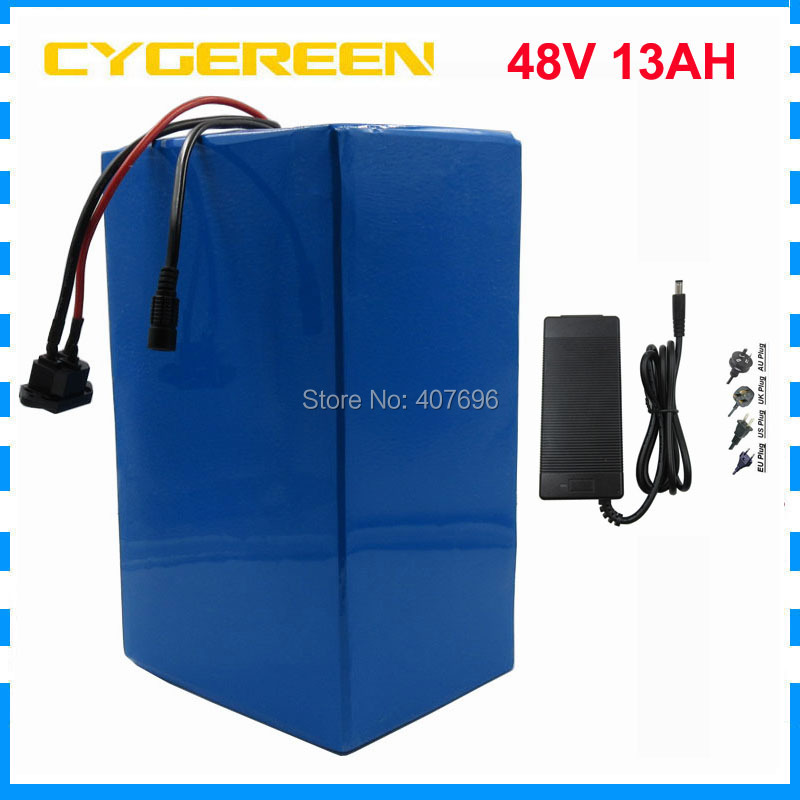 500W 48V lifepo4 battery 48V 13AH e bike battery 48V electric bike scooter battery with 15A BMS 58.4V 2A Charger FREE TAXES