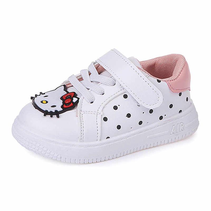 95146472f KINE PANDA Children Shoes Girls Casual Sneakers Hello Kitty Toddler Baby Girl  Flats Little Kids Sport