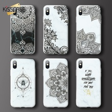 KISSCASE Flower Marble Phone Case For iPhone 7 8 6 6s plus 3D Embossed Soft X XR XS MAX 5S Coques Fundas Cover