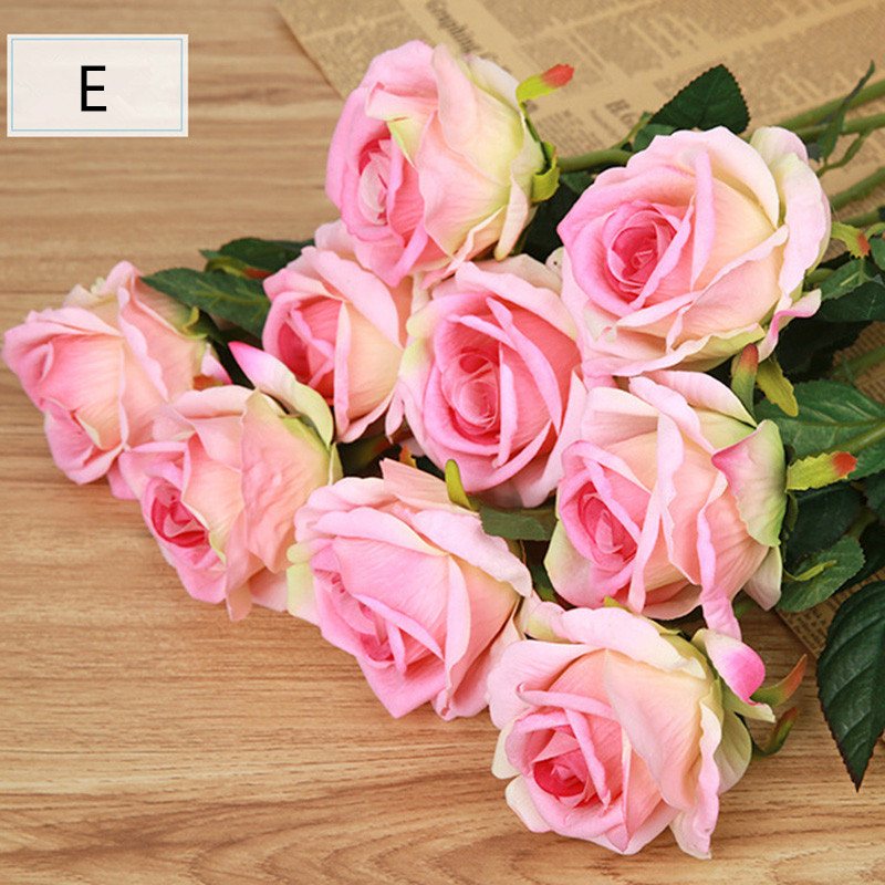 1pcs big size floor artificial rose colorful silk flower  wedding hotel restaurant decoration without vase