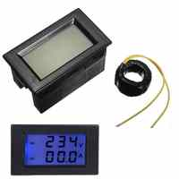 1 PCS AC 80 ~ 300 V LCD Digital AC-Voltmeter Amperemeter AC 100A Spannung Strom Dual Meter Volt Amp panel Meter 6,9x4x3,85 cm