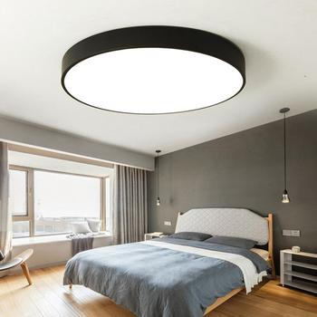 LED Ceiling Light Round Recessed Lamp for Study Living Room 85-265V 18W Modern Simple Style Light