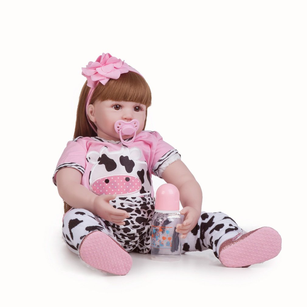 BM0046 <font><b>Reborn</b></font> Baby <font><b>Doll</b></font> Silicone Vinyl Realistic Girl Babies <font><b>Dolls</b></font> <font><b>60</b></font> <font><b>cm</b></font> Lifelike Princess Kids Toy Children Birthday Gift image