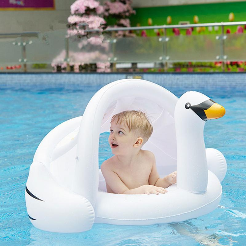 PVC Environmentally Friendly Swimming Ring Inflatable Children's Sunshade Thickening Double Swimming Water Wing