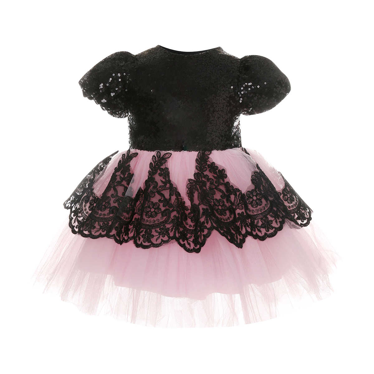 6490d193b1c84 Flower Kids Girl Dress Birthday Wedding Formal Pageant Party Tutu Cute Lace  Back Big Bow Clothes