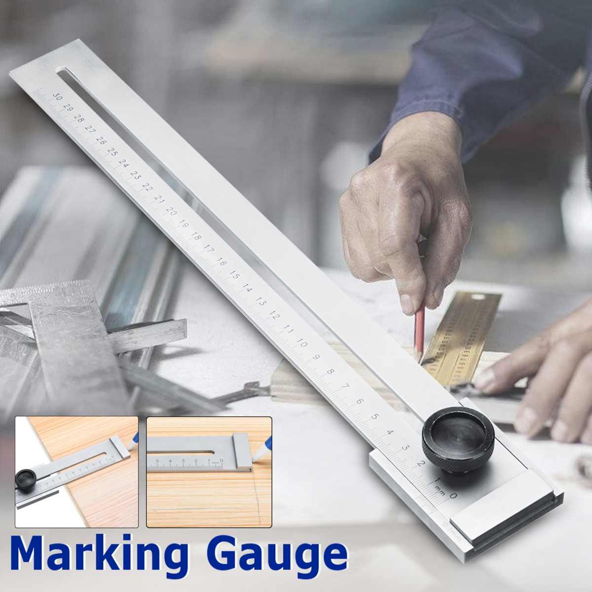 0,1mm Gauging Werkzeuge 0-300mm Schraube Schneiden Kennzeichnung Gauge Mark Schaber Werkzeug Für Holzbearbeitung Mess Carbon Stahl Graduation Hohe QualitäT Und Preiswert
