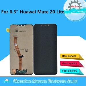 "Image 1 - 6.3 ""מקורי מסגרת M & סן עבור Huawei Mate 20 לייט LCD מסך תצוגה + מגע Digitizer לוח עבור huawei Mate 20 לייט עצרת Lcd"