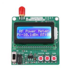 LCD Digital Wattmeter Volt Watt Power Meter Ammeter Voltmeter RF Power Meter -75~16 dBm 1-600MHz Radio Attenuation Value(China)