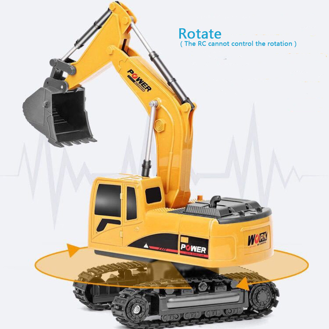 2.4Ghz 6 Channel 1:24 RC Excavator toy RC Engineering Car Alloy and plastic Excavator RTR For kids Christmas gift 3