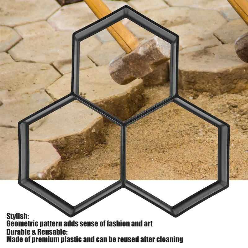 Садовая Каменная форма для тротуара форма DIY тротуара бетонная форма мощение дороги кирпич патио прессформы Para Concreto плиты Pathmate