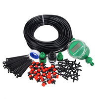 Promotion! 1 Sets Portable Fog Nozzles irrigation system Misting Automatic Watering 20m Garden Hose Spray Head Water Connectio