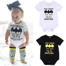 2019 Pudcoco Brand Cute Summer Infant Newborn Baby Girl Boy Cartoon Short Sleeve Cotton Batman Bodysuit Romper Sunsuit Outfits(China)