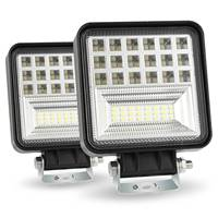 Led Pods, 2Pcs 4 Inch Spot Flood Combo Diffused Square Led Work Lights Off Road Led Cubes Led Driving Lights For Truck 4X4 Tra