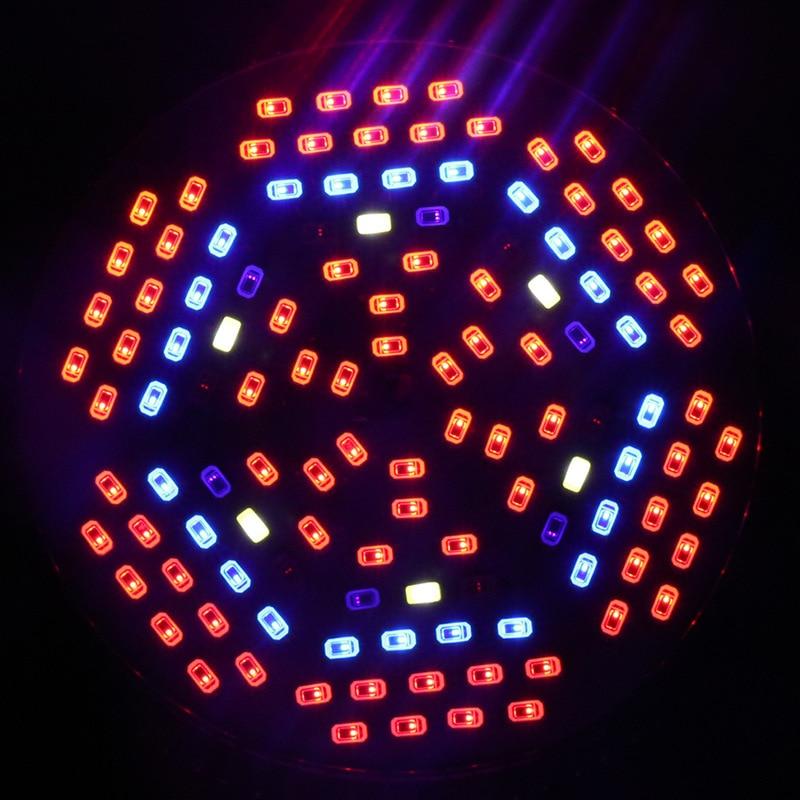 10PCS Full Spectrum LED Grow Light E27 AC85 265V Lampada 45W UV IR 120LEDS Led Growing Lamp For Hydroponics Flowers Plants
