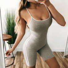 Sexy Ladies Solid Jumpsuit Party Sleeveless V-Neck Women Romper Slim Bodycon Playsuit Clubwear Short Romper Overalls sexy square neck solid color button embellished sleeveless romper for women