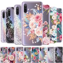 Phone Case For Xiaomi Mi 8 9 A1 A2 5X 6X Redmi Note 4 4X 5 6 7 Pro F1 Girls Floral Silicone Cases Clear Tpu Soft Slim Cover(China)