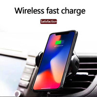 Automatic Infrared Sensor Qi Wireless Charging Holder Fast Car Charger For iPhone Xs Max XR X 8 Xiaomi Huawei Samsung S9 S8
