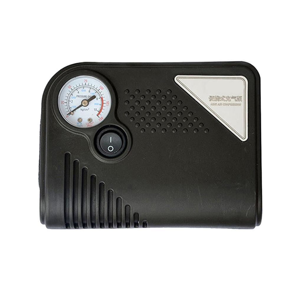 Portable 12V DC Car Tire Inflator Mini Electric Air Compressor Pump Black ABS For Car Motorbike RV SUV ATV