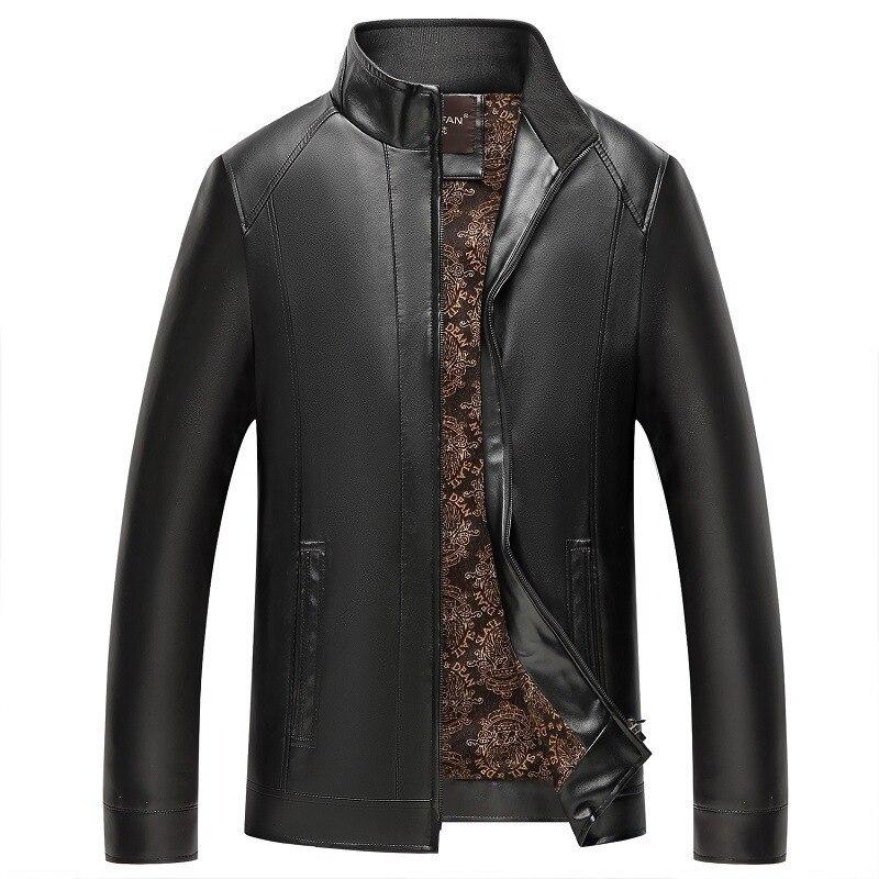 #3631 Frühling Herbst Männer Faux Leder Jacke Mode Hohe Qualität Pu Mantel Stehen Kragen Casual Biker Jacke Männlichen Oberbekleidung 4xl