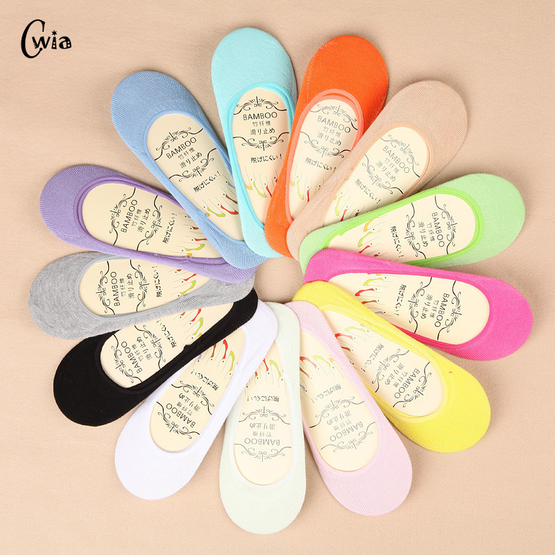 13 color summer comfortable cotton girl women's socks ankle low female invisible color girl boy hosiery 3pair=6pcs ws45