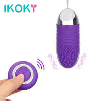 IKOKY Waterproof Bullet Vibrator with Remote Control 36 Mode Egg Vibrator G-spot Massage Sex Toys for Women Female Masturbator