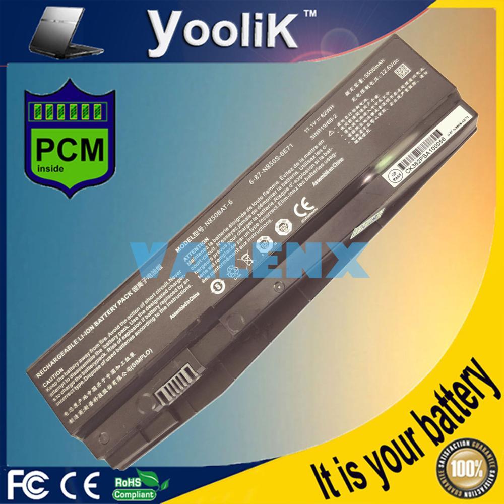 62wh nova 6-87-n850s-6u71 N850BAT-6 bateria do portátil para clevo n850hc n850hj n870hc n870hj1 6-87-n850s-4c4