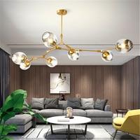 Modern LOFT Molecular Magic Bean Branch LED Chandelier Lighting Pendant Lamps Lights Italian HangLamps Dining Room Kitchen Avize