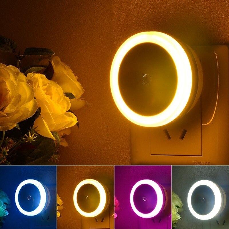Kids Sensor Night Light In Sensor Light EU / US Plug Luminaire Led Lamp Nightlight Children Bedroom Round Square 220V