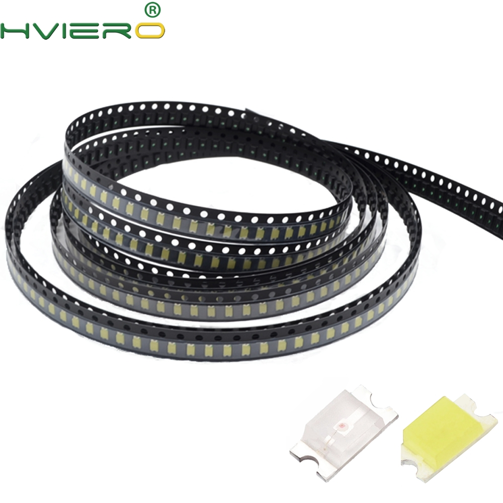100pcs 1206 SMD SMT White Red Green Blue Yellow Pink Orange Super Bright LED Lamp Light-emitting Diodes LED Super Bright Light