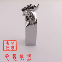 2019New Listing Chinese Word Chicken Shape Chrome Plated Unique Alloy Stamp For Birthday Gift Scrapbooking Seal Stamps