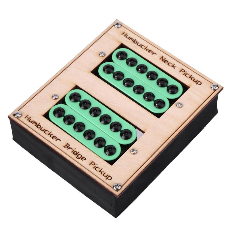 2pcs/box Green Ceramic Magnet 4 Core Shielded Wire Electric Guitar Humbucker Pickups for Microphonics Suppression