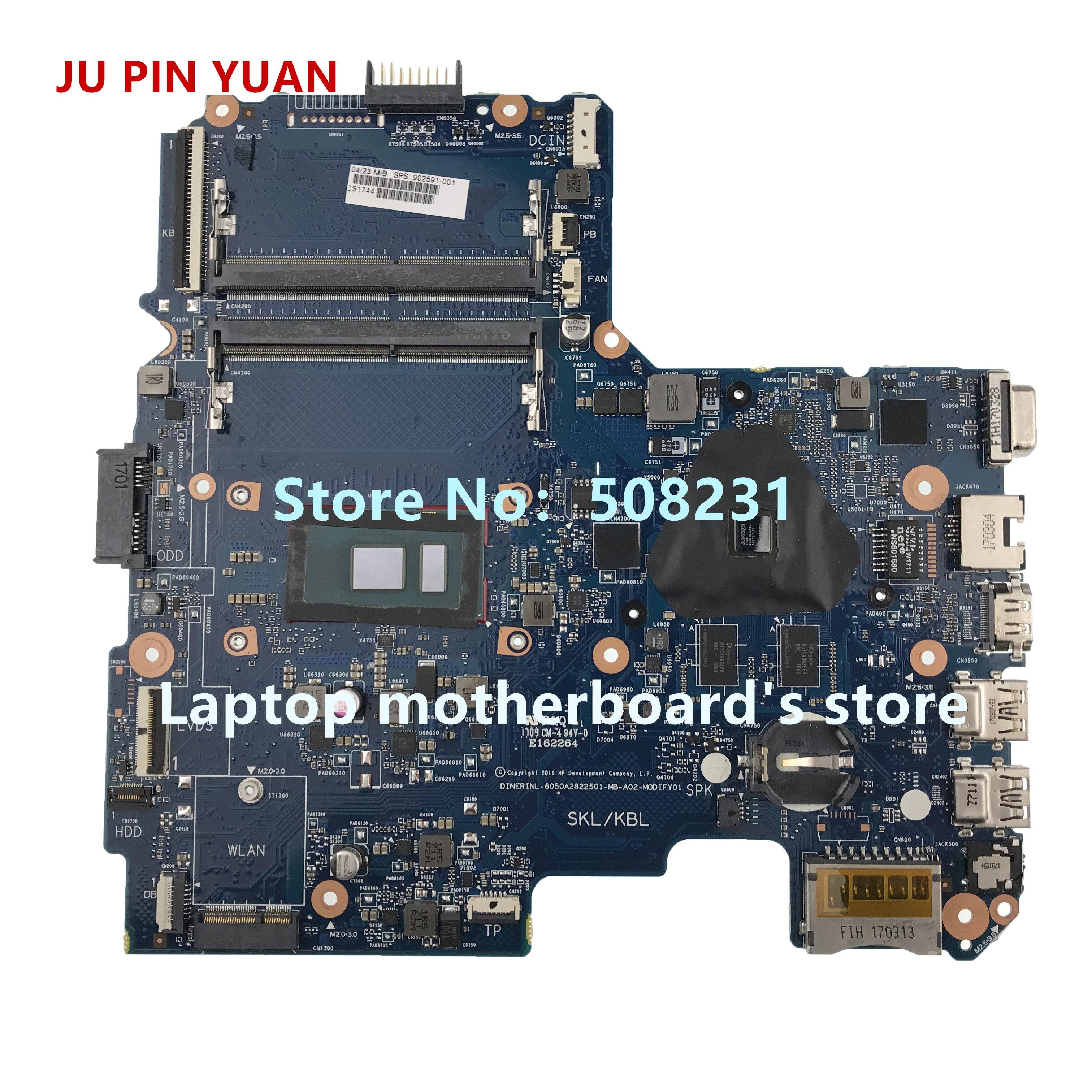 JU PIN YUAN 902591-001 902591-501 902591-601 for HP 14-AR 14-AM series laptop motherboard R5M1-30 2GB 6050A2822501 fully TestedJU PIN YUAN 902591-001 902591-501 902591-601 for HP 14-AR 14-AM series laptop motherboard R5M1-30 2GB 6050A2822501 fully Tested