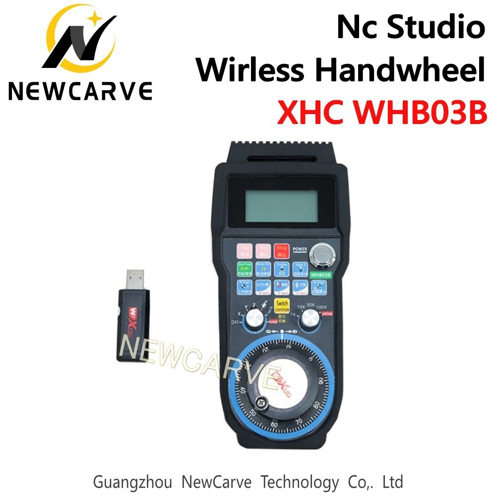 XHC WHB03B Nc Studio CNC Handwheel Wireless Nc Studio MPG Pendant Handwheel For Milling Machine 3 Axis NEWCARVEXHC WHB03B Nc Studio CNC Handwheel Wireless Nc Studio MPG Pendant Handwheel For Milling Machine 3 Axis NEWCARVE