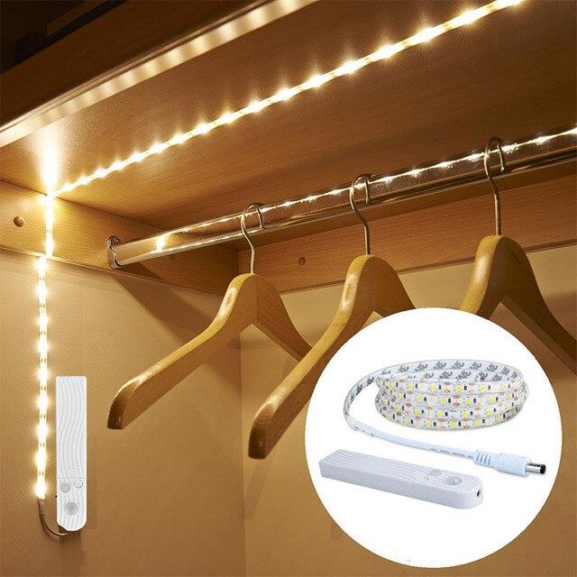 LED רצועת אור עם חיישן תנועת מנורת רצועות USB דיודה קלטת טלוויזיה תאורה אחורית ילדי של לילה אור בית חג מולד קישוט led