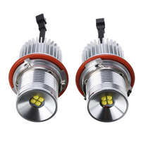 1 Pair 40W LED 12 30V Car Front Light Angel Eyes Marker Light Bulb Error Free with Wiring Harness Headlight For BMW E39 E60
